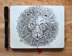 Spectacular Moleskine doodles that explode with energy by Kerby Rosanes