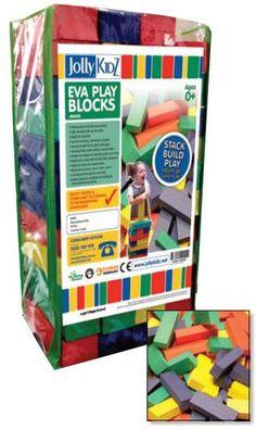 Jolly-Kidz-Eva-Play-Blocks 15 cm x 4 x 5 - 40 per box. $35.00