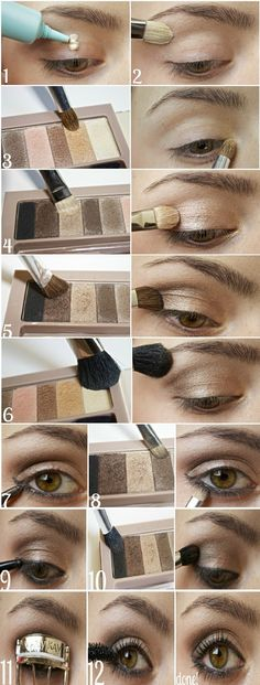 12 Step by Step Smokey Netural # Eyeshadow Tutorials / LoLus Best Makeup Fashion