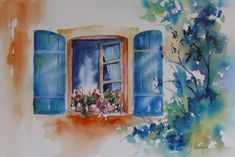 Watercolor Canvas, Watercolor Artists, Watercolor Techniques, Art Techniques, Watercolour Painting, Watercolor Flowers, Watercolor Ideas, Watercolours, Charming House
