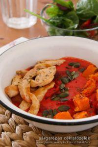 Sárgarépás céklafőzelék - gluténmentes főzelék recept Thai Red Curry, Paleo, Ethnic Recipes, Food, Essen, Beach Wrap, Meals, Yemek, Eten