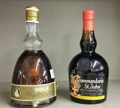 A bottle of Commandaria St John sweet wine and a bottle of Bols Ballerina Apricot Brandy Sold £45 at BourneEndAuctionRooms