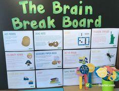 Brain Breaks in the Classroom Year 1 Classroom Layout, Primary Classroom Displays, Ks2 Classroom, Classroom Games, Classroom Behavior, Brain Breaks In The Classroom Elementary, Classroom Organisation Primary, Classroom Management, Classroom Environment
