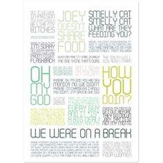 Plakat med citatcollage - Friends - colors