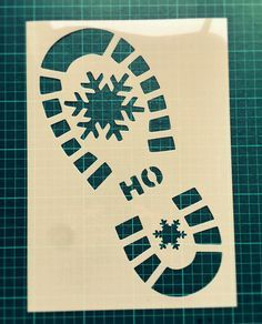 Santa Claus Footprint STENCIL /windows floor decor / door CreateCuts
