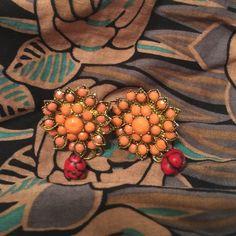 Flower earrings from Thailand Earrings Unknown Jewelry Earrings