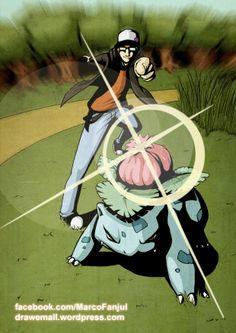 - Ivysaur by Marco Fanjul Pokemon, Anime, Illustrations, Art, Drawings, Art Background, Kunst, Cartoon Movies, Illustration