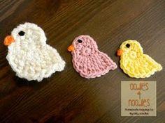 Spring Chick Applique Pattern | AllFreeCrochet.com