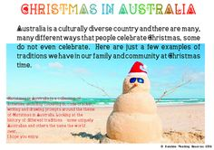 Christmas in Australia Christmas In Australia, Drawing Prompt, Colouring, Prompts, Teaching Resources, Sunshine, Coding, Traditional, Activities