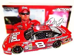 *AUTOGRAPHED* 2003 Dale Earnhardt Jr. #8 Bud 2000 RICHMOND RACE / NO BULL Rookie Action 1/24 Diecast by Trackside Autographs. $159.95. For your viewing pleasure: *AUTOGRAPHED* 2003 Dale Earnhardt Jr. #8 Bud 2000 RICHMOND RACE / NO BULL Rookie Action 1/24 NASCAR Diecast. (1 of only 28,764 produced!). This beautiful car has been hand-signed by Dale in silver on the windshield through a well-respected member of Global Authentication. You will receive a Certificate of A...