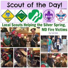 Local Scouts Helping the Silver Spring, MD Fire Victims {Scout of the Day}