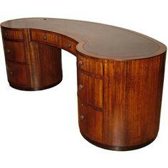 "1930's English ""Modernist"" Art Deco desk"