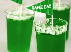 This pint-size potion packs a punch, just like football Hall of Famer and four-time Super Bowl champion Joe Greene. Lime Jello gives them the vivid green color; pre-made margarita mix and tangy tequila deliver a traditional margarita flavor.
