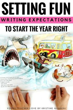 Setting Fun Writing Expectations at the Beginning of the Year - Learn how to help your upper elementary 3rd, 4th, 5th, and 6th grade classroom or homeschool students start off on the right foot when it comes to writing. Find a great book suggestion, teaching tips, graphic organizers, resources, and more. Perfect for the first day of school or those first couple weeks. (third, fourth, fifth, sixth graders, Year 3, 4, 5, 6) #YoungTeacherLove