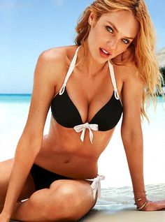 "VS - ""The Gorgeous Swim Collection Gorgeous Push-up Halter Top and side ruched bikini bottom"""