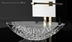 Shop for WS Bath Collections Ice Oval Vessel Bathroom Sink in Crystal x at Modo Bath, the premier online shopping experience for Vessel Sinks. Verre Design, Glass Design, Sink Design, Bad Inspiration, Bathroom Inspiration, Bathroom Ideas, Bathroom Renovations, Home Interior, Bathroom Interior