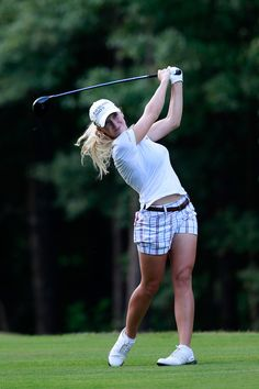 Hottest women LPGA golfers who played for Alabama Crimson Tide - Brooke Pancake Sexy Golf, Golf Attire, Golf Outfit, Girls Golf, Ladies Golf, Lpga Players, Lpga Golf, Womens Golf Wear, Golf Training Aids