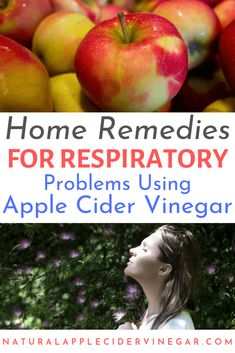 Did you know that you can use apple cider vinegar for respiratory problems such as COPD, asthma, and bronchitis? Check out these natural home remedies for common respiratory problems! Natural Asthma Remedies, Ayurvedic Remedies, Cold Home Remedies, Natural Cures, Homeopathic Remedies, Asthma Symptoms, Apple Cider Vinegar, Natural Treatments