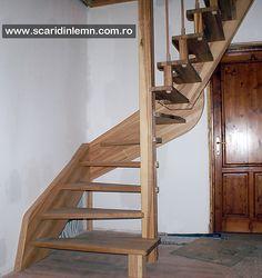 scara interioara din lemn masiv pret mic scara economica Design Case, Stairs, Home Decor, Cots, Interiors, Stairway, Decoration Home, Room Decor, Staircases