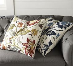 I like it in blue  Annabelle Floral Embroidered Pillow Cover #potterybarn
