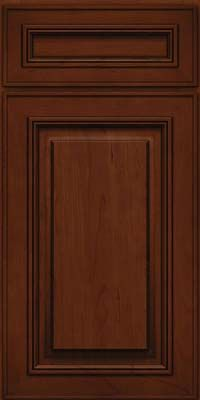 Square Raised Panel - Solid (AA0C) Cherry in Autumn Blush w/Onyx Glaze - Base  Kraftmaid