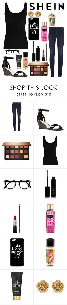 """""""Untitled #12204"""" by ohnadine ❤ liked on Polyvore featuring 7 For All Mankind, Nine West, Sephora Collection, Twenty, Marc Jacobs, MAC Cosmetics, Victoria's Secret, Caso, Juicy Couture and Miriam Haskell"""