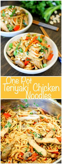 One Pot Teriyaki Chicken Noodles are full of delicious teriyaki chicken, vegetables, and a drenched in a delicious Asian inspired sauce. @jvillesausage #ad