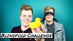 twins do the Blindfold Challenge on We hope you found it hilarious! Hilarious, Funny, Hope You, Youtubers, Twins, British, Challenges, Facebook, Twitter