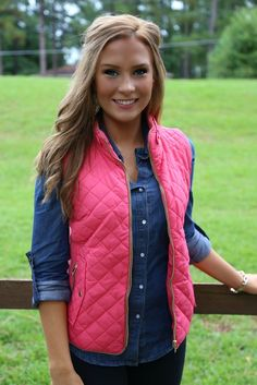 Southern Belle Vest: Coral - Off the Racks Boutique