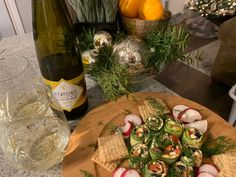 Viewpointe Estate Winery 2011 Riesling with Greek Sushi. Sushi Ingredients, Essex County, Lemon Wedge, Complete Recipe, Fresh Dill, Kalamata Olives, Wineries, Cherry Tomatoes, Brewery