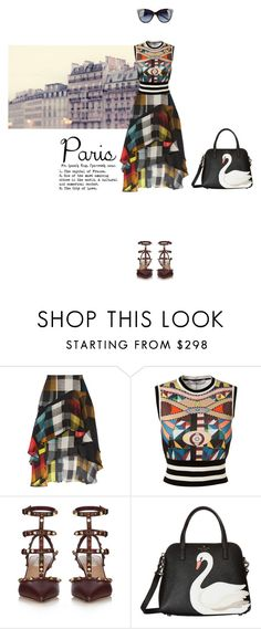"""""""Untitled #655"""" by krahmmm ❤ liked on Polyvore featuring Preen, Givenchy, Valentino, Kate Spade and Love Moschino"""