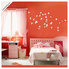 Shoply.com -Flying flock of birds vinyl wall stickers - (unweeded and application tape provided). Only £4.99