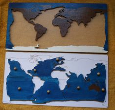 Geography with the Montessori method THE TAPE OF THE OCEANS