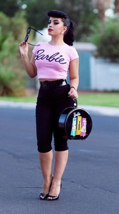 DIY: Vintage Barbie costume. Perfect for our Vintage Halloween Party!