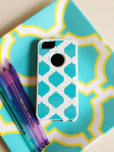 Aqua Otterbox iPhone 5 Case by AModernStyle on Etsy, $55.00 (WHEN THE IPHONE 5 HAPPENS)
