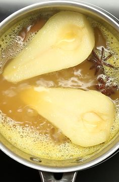 Cider Poached Pears