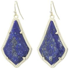 Kendra Scott Alex Earring (Gold/Raw Cut Lapis) Earring ($65) ❤ liked on Polyvore featuring jewelry, earrings, colorful jewelry, multicolor earrings, yellow gold jewelry, multi colored earrings and gold earrings