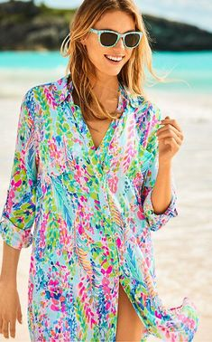 104c4143304f4e Beautiful Lilly Pulitzer Natalie cover up. Perfect for spring and summer  vacation resort wear #