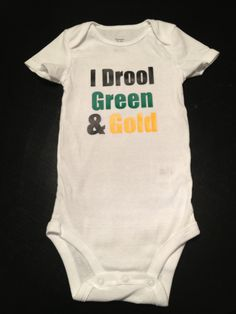 I Drool Green & Gold  Green Bay Packer Game by SimplySamanthaLee, $12.00