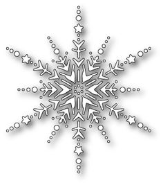 MEMORY BOX - DIES 99041 - DAZZLING SNOWFLAKE 3.5 x 4.1 in. or 8.9 x 10.5 cm.This item goes well with: For use on cardstock, felt, fabric, shrink plastic. Works with the Big Shot Pro, Cuttelbug, eBosser or Grand Calibur die cut machines