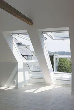 Large velux windows to maximise view