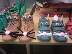 schoenen: konijn en muis