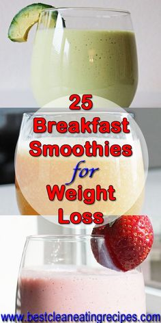 25 Breakfast Smoothie Recipes for Weight Loss Healthy Weight Loss Recipes Easy Healthy Recipes Clean Eating Diet Breakfast Smoothies For Weight Loss, Weight Loss Smoothies, Healthy Smoothies, Healthy Drinks, Diet Drinks, Breakfast Healthy, Breakfast Ideas, Homemade Smoothies, Beverages