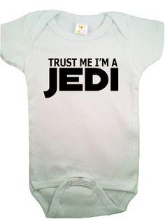 Funny Cool Trust Me I'm Jedi Star Wars Baby Onesie Bodysuit
