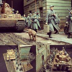 "Beautiful!!! ""Road to Tarnopol 1944"" 1/35 diorama. Modeler Alexander Butin #scalemodel #plastimodelismo #miniatura #miniature #maqueta #maquette #modelismo #modelism #modelisme #hobby #diorama #plastickits #usinadoskits #udk #war #guerra #guerre #bataille"