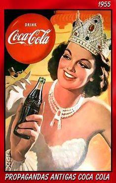 Coca Cola Poster, Coca Cola Ad, Always Coca Cola, World Of Coca Cola, Coca Cola Bottles, Coke Ad, Vintage Coke, Vintage Signs, Vintage Advertisements