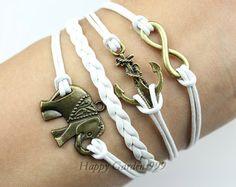 ElephantInfinity & Anchor braceletAntique by happygarden999, $6.99