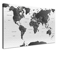 Black and white world map monochrome art world map art world map black and white world map canvas google search gumiabroncs Choice Image