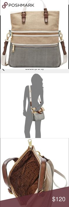 Fossil Explorer bag Super cute large fossil cross body!! I bought for  a vacation trip, but did not have room to bring it! Never used and still has the original tags- It is in original shape and needs a good home! Originally cost $198, but I am asking $120 or best offer! Fossil Bags Crossbody Bags