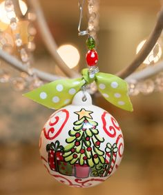 Love this Chirstmas Tree & Present Ornament on #zulily! #zulilyfinds